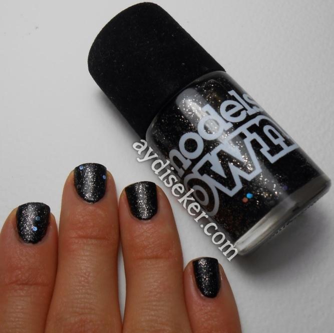 models own obsidian, siyah simli oje, siyah oje