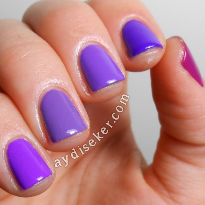 purple ombre, purple nail polish, mor oje
