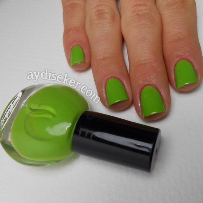 green polish, yeşil oje, sephora oje, sephora nail polish