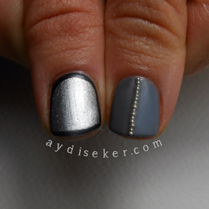 outlined mani, essence nailart decorations, caviar beads