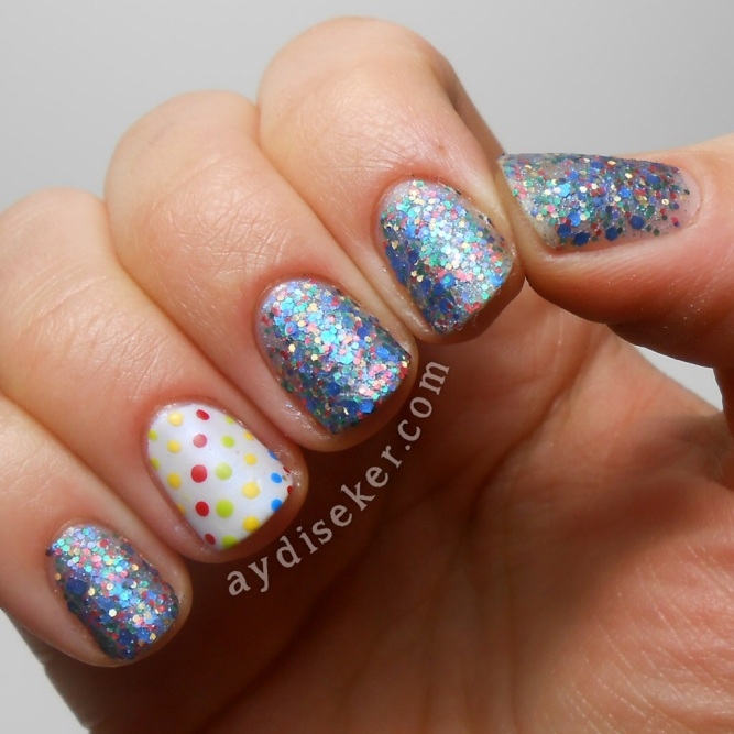 Golden Rose Rich Color 101, dotticure, polka dots, puantiyeli oje deseni