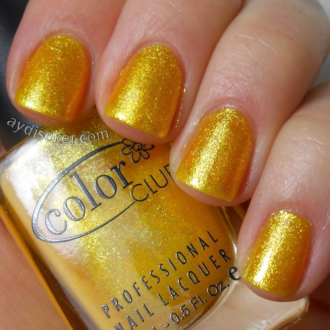 sarı oje, simli sarı oje, yellow polish, yellow glitter polish