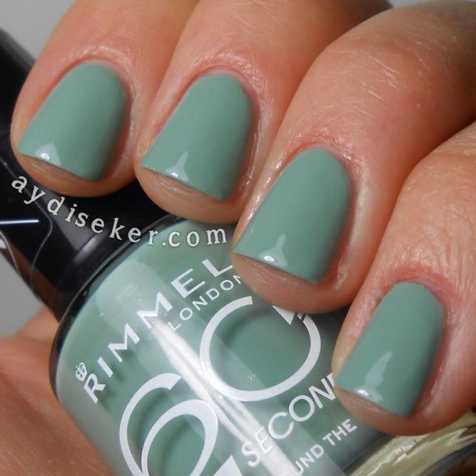 gri yeşil oje, grey-green polish