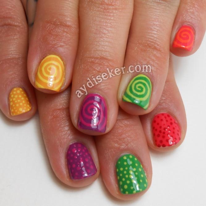 skittle dotticure and spirals