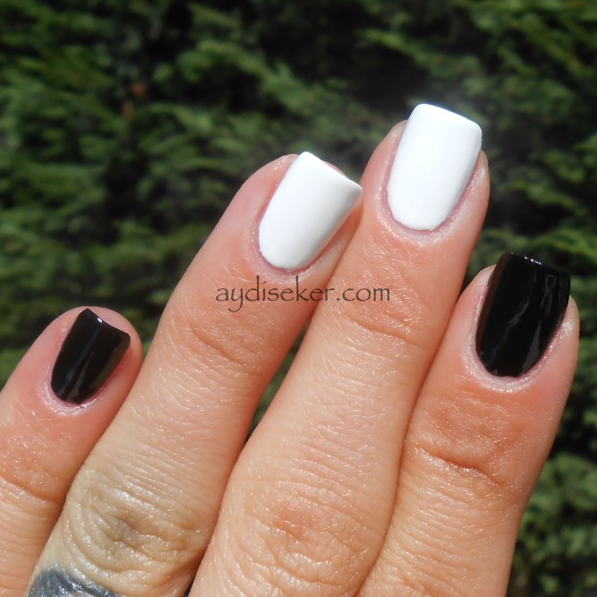 black and white polish